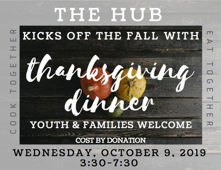 Youth Thanksgiving HUB Fall 2019