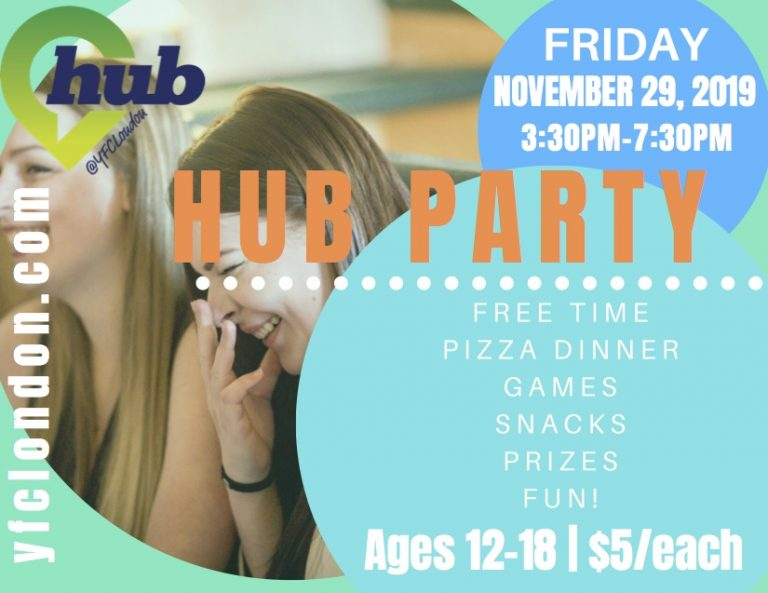 pic Hub Party November 29 Fall 2019